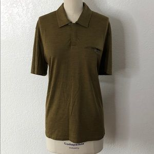 Men's Prada green shirt xl fitted
